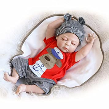 OUBL 22pulgadas 55 cm Silicona Vinilo Toddler Magnetismo Juguetes Regalos Ojos Abiertos mu/ñecas Reborn Baby Doll Bebe ni/ña