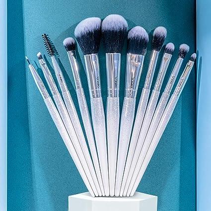 VIALA | Kit Brochas Maquillaje Profesional de 11 piezas. Pinceles de maquillaje profesional, set de brochas de maquillaje: Amazon.es: Belleza
