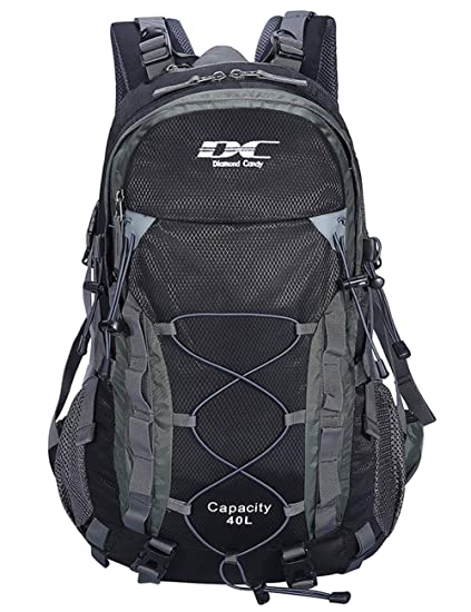 bf6579d8a5 40L Backpack Diamond Candy Outdoor Hiking Climbing Backpack Daypacks  Waterproof Mountaineering Bag 40L Unisex High-capacity Travel Bag   Amazon.co.uk  ...