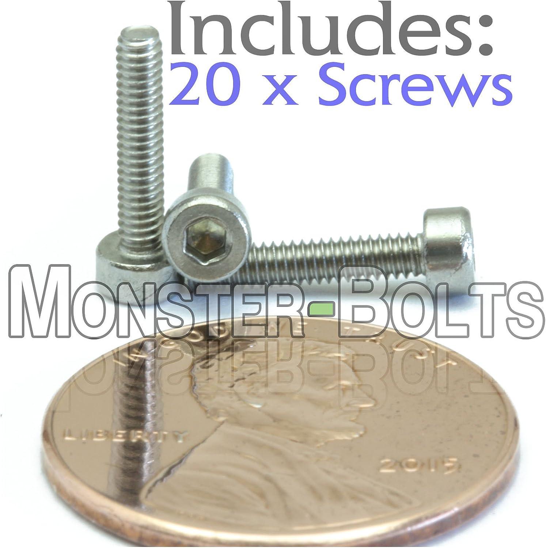 Aspen Fasteners M20-2.5 X 80mm Hex Socket Drive 18-8 DIN 912 AISI 304 Stainless Steel Metric 1 pcs Socket Head Cap Screws