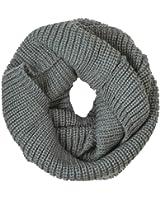 eFuture(TM) Grey Unisex Soft Wool Classic Braid Knit Infinity Warm Loop Scarf Hood +eFuture's nice Keyring