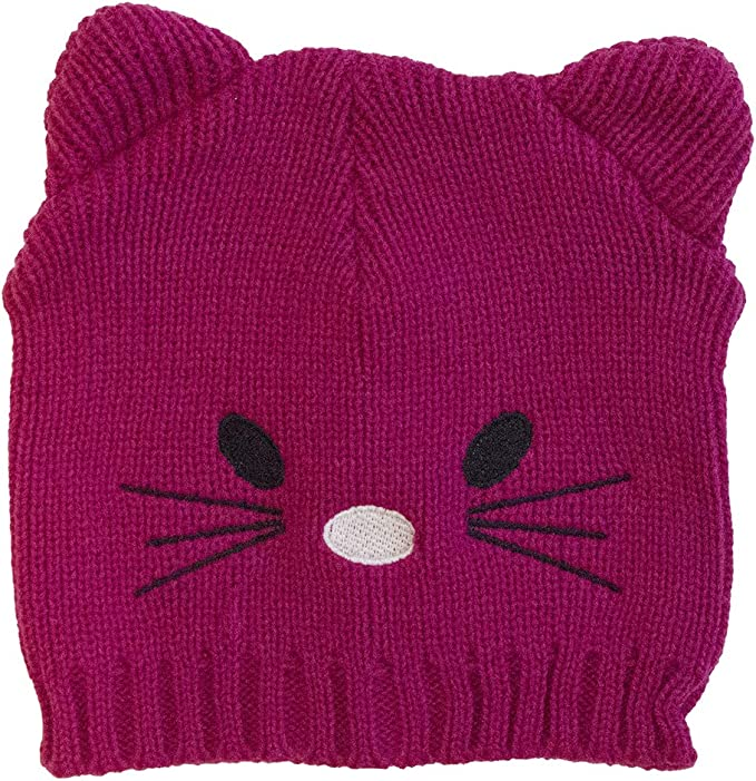 CapZone Unisex Kids Knit Beanie One Size Fits Most Teddy Bear or Cat Ears