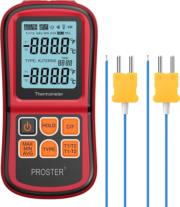 Proster Digitales Thermometer Mit 2 Dual Kanal K Typ Elektronik