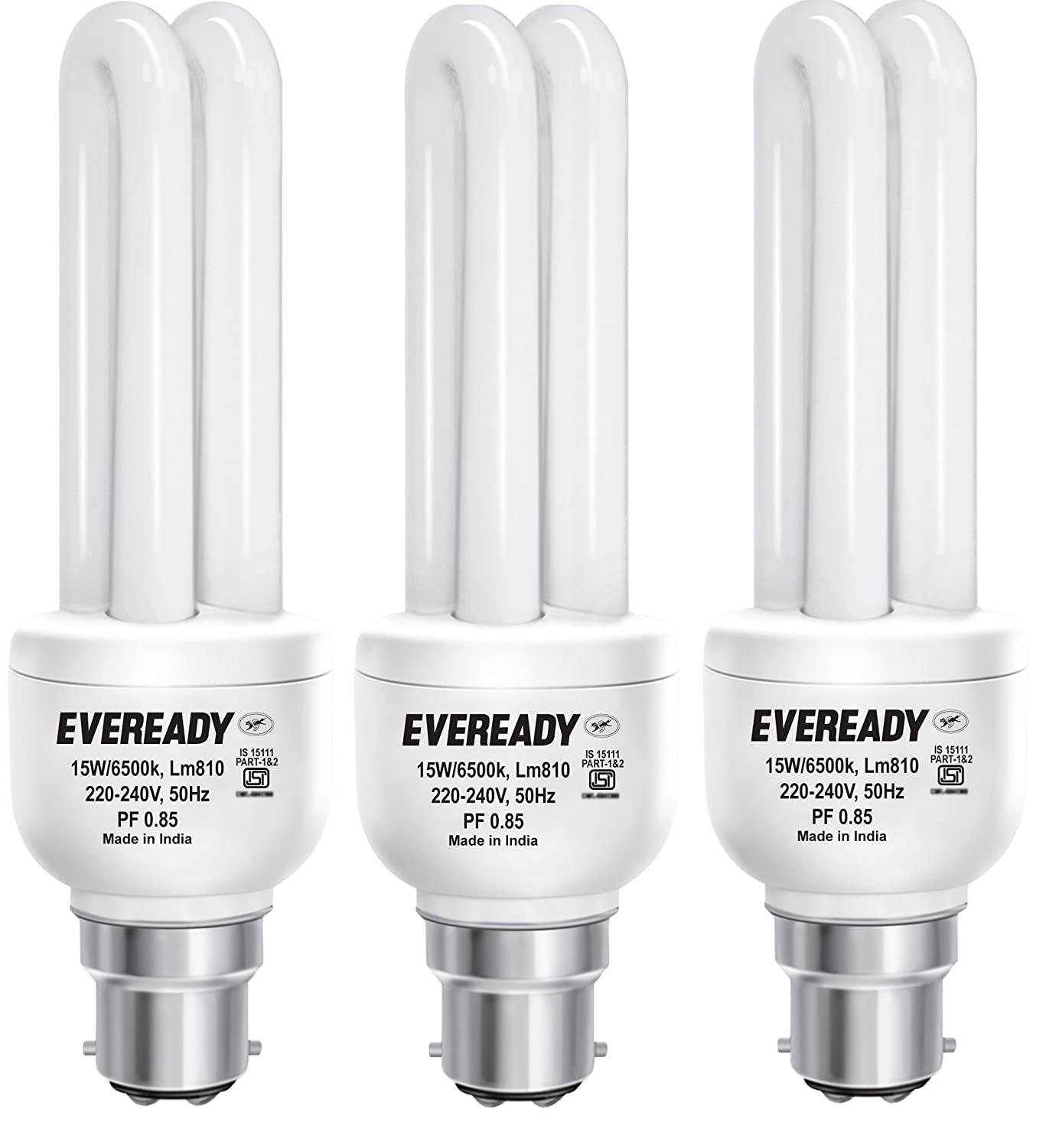 Buy Eveready ELD 15-Watt CFL (White and Pack of 2) Online at Low ... for Compact Fluorescent Lamp Wattage  565ane