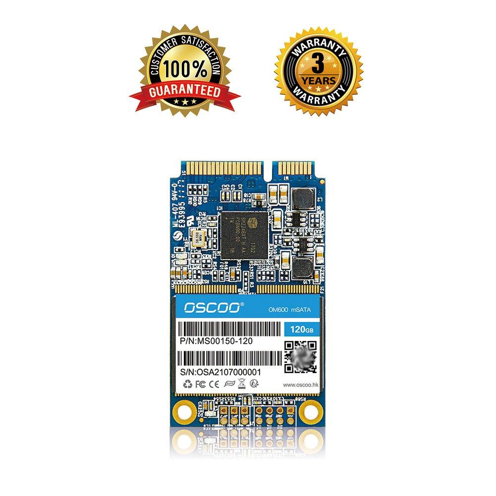 OSCOO 120GB - mSATA III (6Gb/s, mSATA SSD, mSATA III, MLC) mSATA Solid State Drive for Notebooks Tablets and Ultrabooks (120GB)