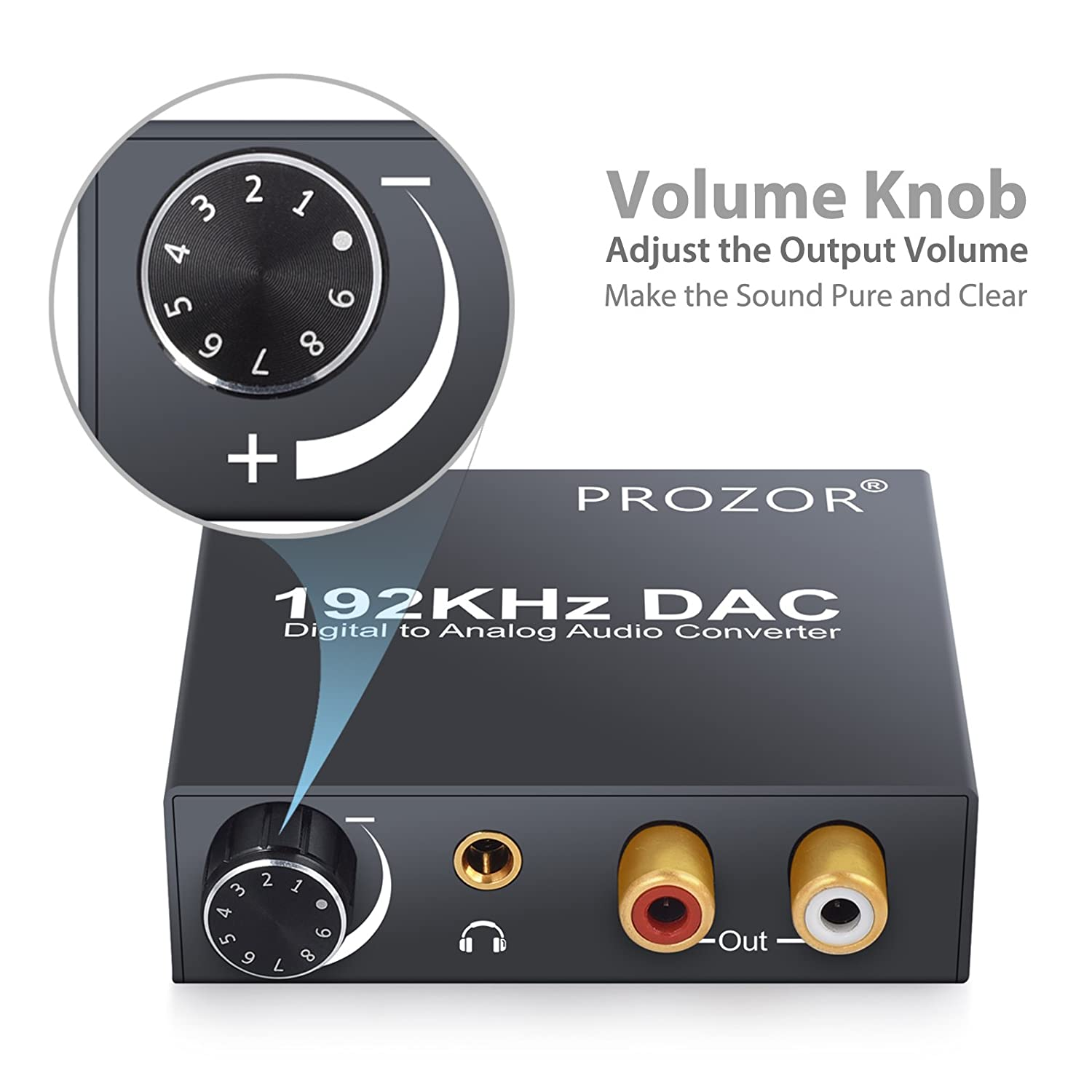 Buy PROZOR 192kHz Digital to Analogue DAC Converter Online at Low Prices in  India - Amazon.in