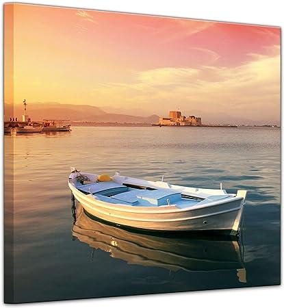 Bilderdepot24 Cuadros en Lienzo Barco de Pesca Tradicional Griego - 40 x 40 cm - Listo tensa, Directamente Desde el Fabricante: Amazon.es: Hogar
