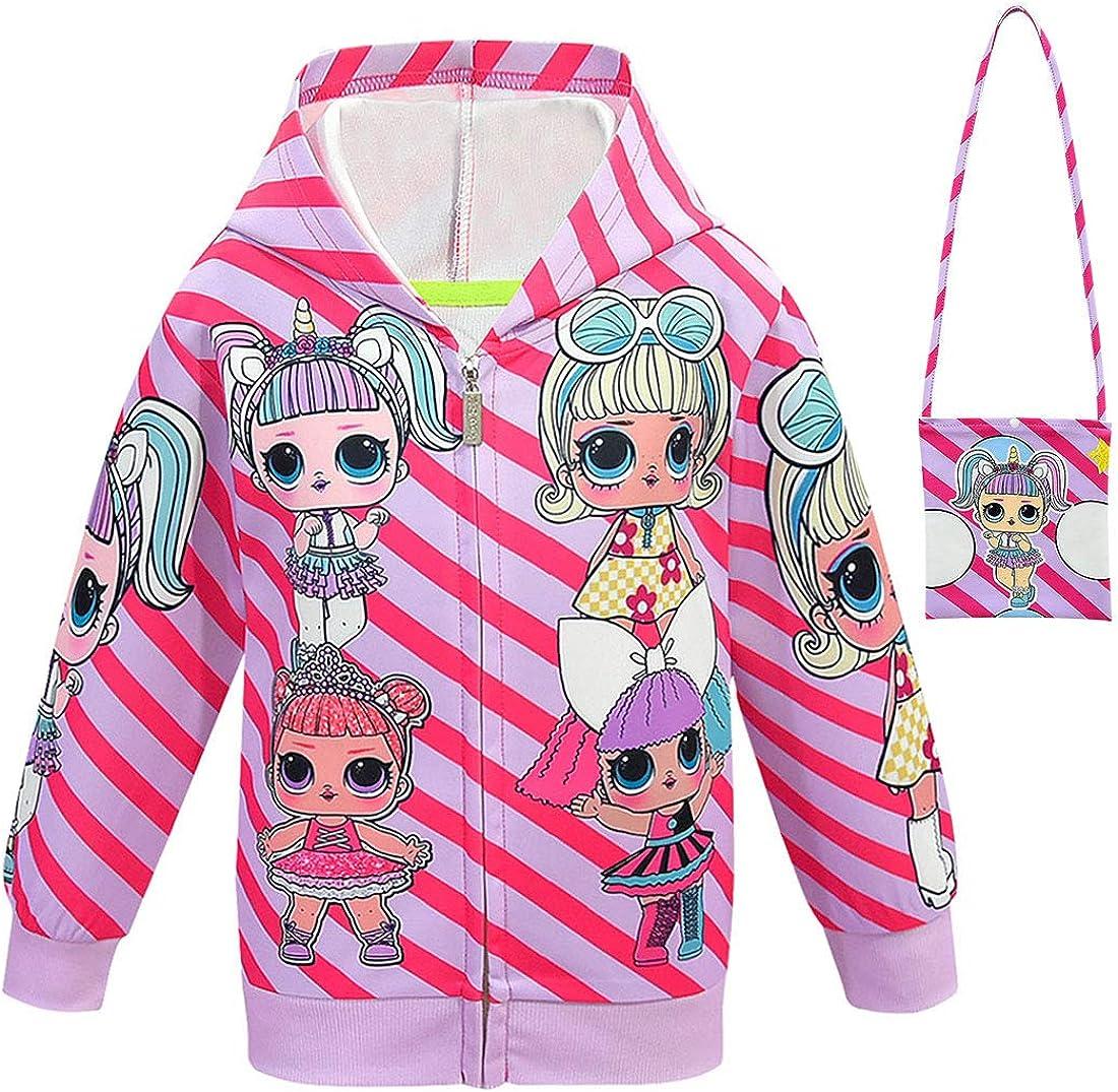 Girl Hoodie Tops Toddler Kids Hooded Sweater Casual Hoodies Outdoor Outfit 2-9 Years