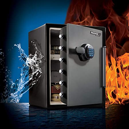 Master Lock Caja Fuerte de Seguridad [Ignifuga y Resistente al Agua] [ Combinación Digital] [XX large] -LFW205FYC, Negro, Gris, XX-Large: Amazon.es: Bricolaje y herramientas