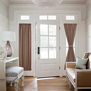 NICETOWN Sliding Door Curtain Panel   Total Privacy Blackout Door Curtain  Panel /Sidelight Drape ( Part 97