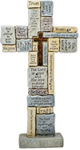 "Roman Table Cross with Words of Encouragement and Prayers, 12.5""H (46420)"