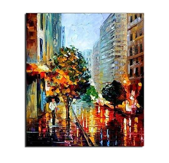 tableau peinture ville