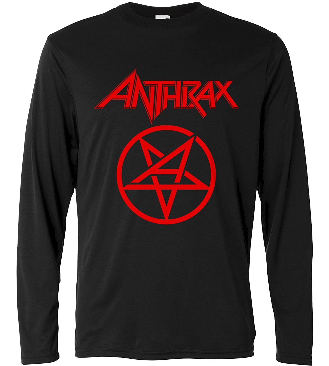 LaMAGLIERIA Camiseta de Manga Larga Hombre Long Sleeve Metal Rock 100/% algod/òn Anthrax New Red Print