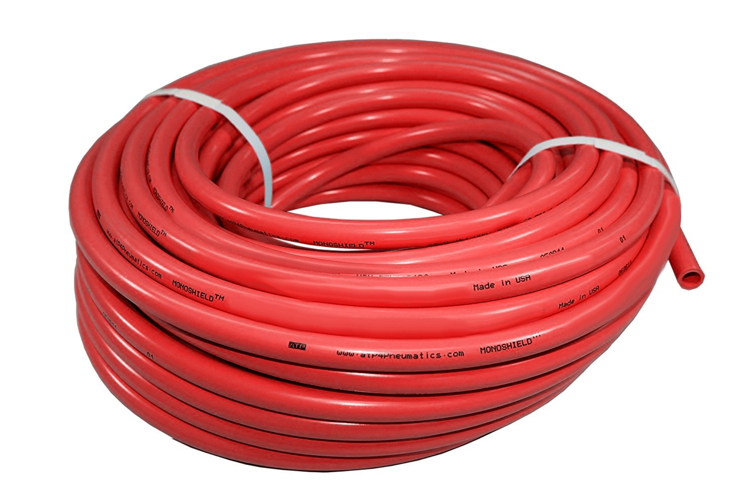Shore 95 A Outside Diameter 5//16 Red Advanced Technology Products 2MS08//516AR MonoShield Weld Bonded Tubing -68 Degree F to +140 Degree F 100 Length