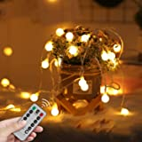 LED Fairy Lights USB Globe Ball String Lights with Remote Christmas light 10M 100LED Children's Light Decor for Indoor…
