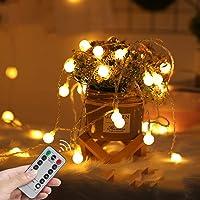 LED Fairy Lights USB Globe Ball String Lights with Remote Christmas light 33Ft 100LED Children's Light Decor for Indoor…