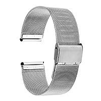 TRUMiRR 20 millimetri Milanese loop del cinturino magnetico fibbia braccialetto cinghia per Samsung Gear S2 Classic SM-R732, 40 mm DW (Daniel Wellington)