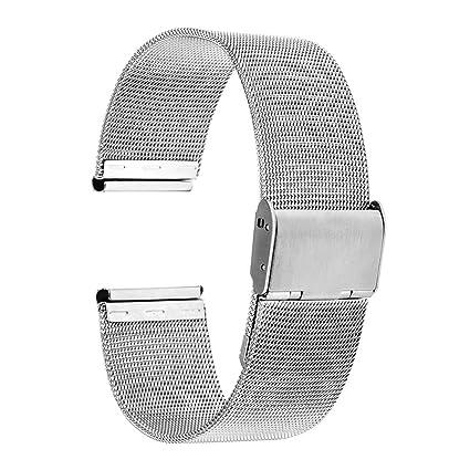 TRUMiRR Banda de 18mm Reloj de Pulsera de Malla de Acero Inoxidable de Metal para Huawei