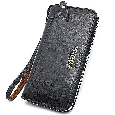 269961559307 長財布 メンズ ファスナー財布 小銭入れ 大容量多機能 レザー ブランド ウォレット ビジネス クレジット