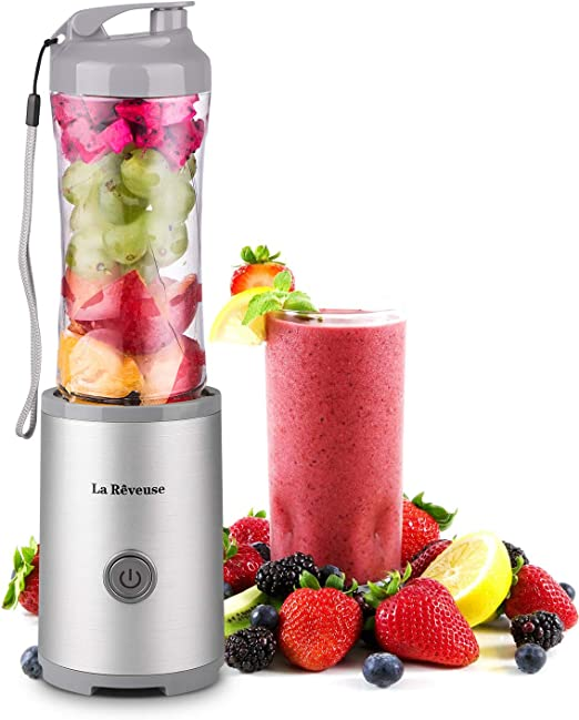 Mitbak Portable Blender 18000rpm Personal Blender for Shakes /& Smoothies 14oz Rechargeable Battery /& Carrying Pouch|Recipe Book Included Small Blender Made From Durable Glass /& Stainless Steel Blades Black