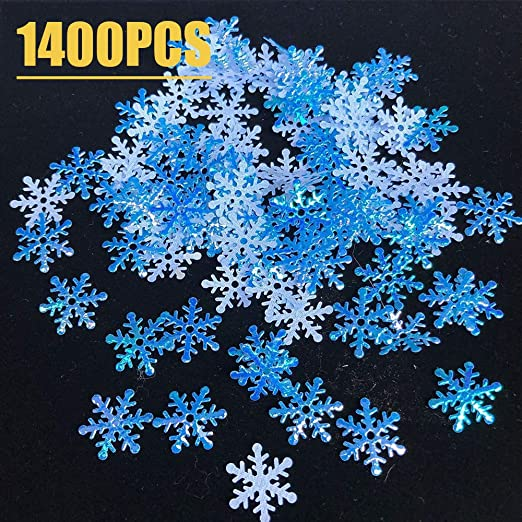 250 Christmas birthday snowflake confetti table party decorations frozen blue