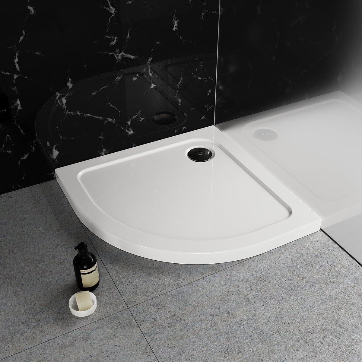 Nordona Plato de Ducha, círculo Cuarto 80 x 80 cm SIMPLEX | Altura ...