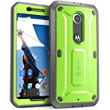 Nexus 6 Case, SUPCASE [Heavy Duty] Belt Clip Holster Case for Google Nexus 6 (2014 Release) [Unicorn Beetle PRO Series] Full-body Rugged Hybrid Protective Cover with Built-in Screen Protector (Green/Gray), Dual Layer Design + Impact Resistant Bumper, Fit Motorola Nexus 6