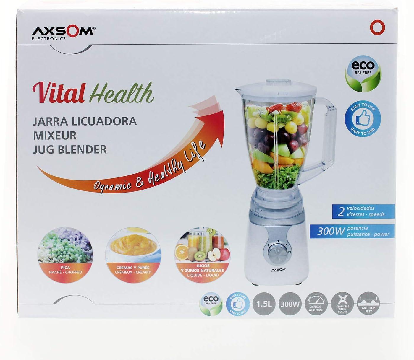 Jarra licuadora Vital Health de Axsom, Licuadora de Vaso de 1, 5 L ...