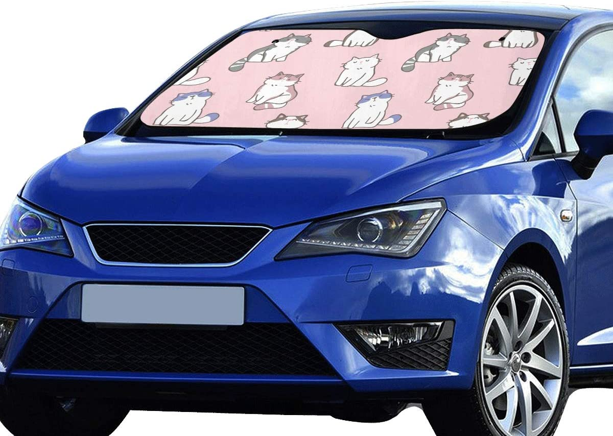 70cm//51 28 Window Keep Your Vehicle Cool Visor for Car Truck SUV Sunshade Cover gklglg Many Penguins Cute Car Windwhield Sun Shades Universal Fit 130
