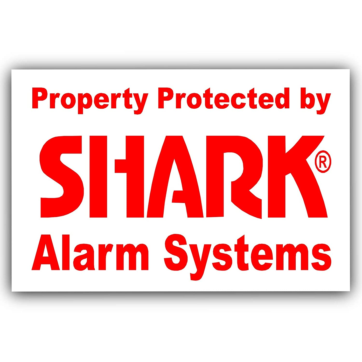 size 60mm x 45mm tiiwee Home Security Alarm Stickers Blue Outdoors Laminated 2 x UV coated Set of 6 Labels