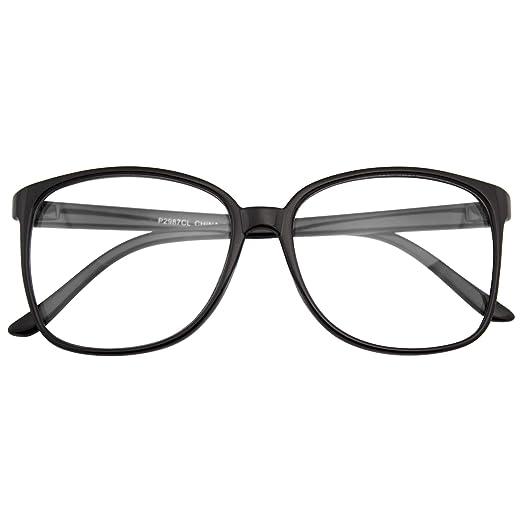 d6ecd6e6590df Emblem Eyewear - Large Oversized Glasses Clear Lens Thin Frame Nerd Glasses
