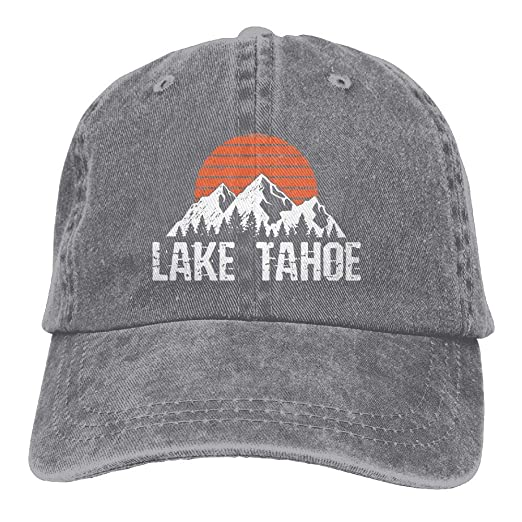 5b20f47f24a Lake Tahoe Distressed Mountain Sun Outdoor Dad Hat Adjustable Baseball Cap  Mesh Hat Trucker Caps at Amazon Men s Clothing store