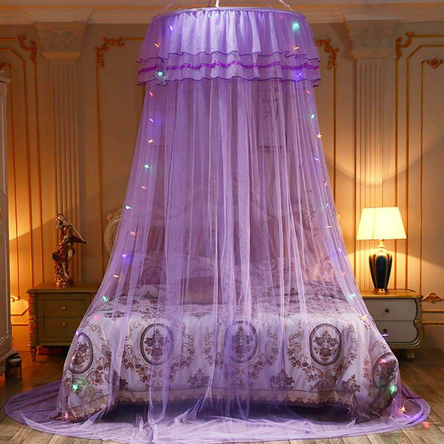 Elegant Canopy Mosquito Net for Double Bed Mosquito Repellent Tent Insect Reject Canopy Bed Curtain Bed Tent,3 by Try My Best Mosquito Net (Image #4)