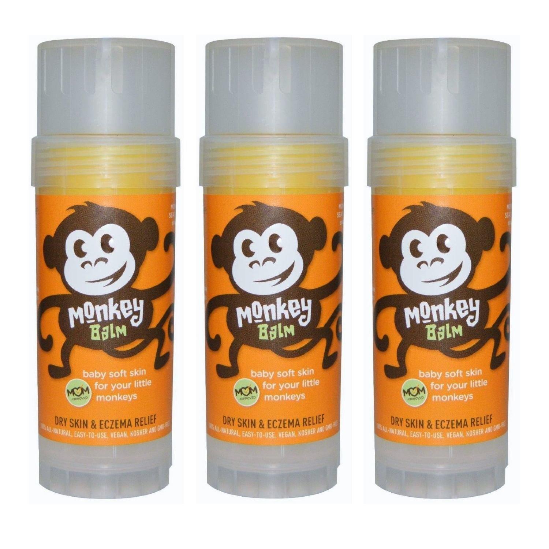 Balmers Monkey Balm, Organic Sea Buckthorn Eczema Remedy Balm, 2-ounce, 3 Sticks