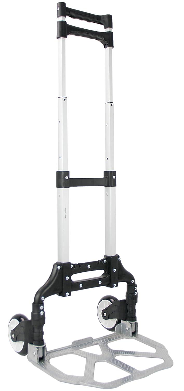 VIVO Aluminum Folding Hand Truck Assistant Telescoping Dolly Cart 165 lb Carrying Capacity (CART-FHT1)