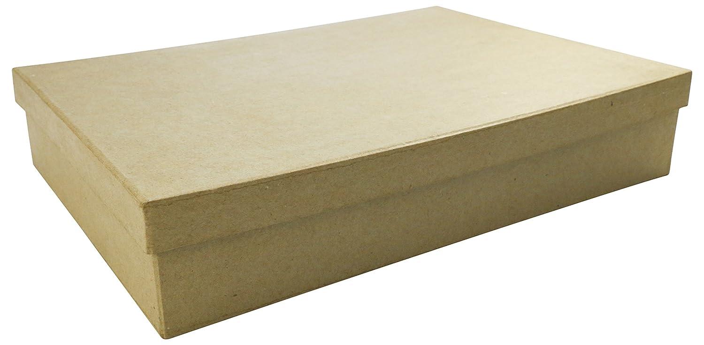 Decopatch–Scatola in cartapesta, formato A4(con coperchio), colore: marrone BT032O