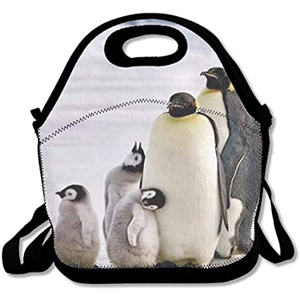 ef589211a8a Bjiansoah Reusable Lunch Bag Penguin Family Food Handbag Custom Lunch  Holder Printed Lunch Tote Bag Multi