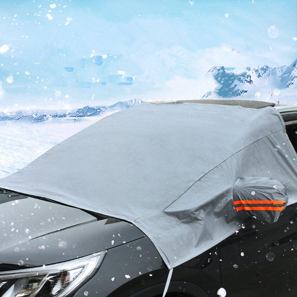 Parabrisas Sol sombra mitad cubierta impermeable invierno Nieve Escudo anti-UV cubre auto SUV Parabrisas delantero lluvia Frost parasol protector Eogro