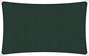 TANG Sunshades Depot 8' x 12' Dark Green Sun Shade Sail, Rectangle Permeable Canopy CustomSize Available Commercial Standard 180 GSM HDPE