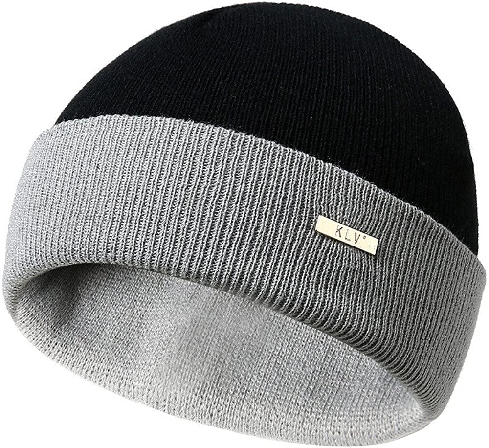Dream Room Women Mens Warm Striped Knitted Beanie Hat Outdoors Slouchy Ruffle Wrap Cap