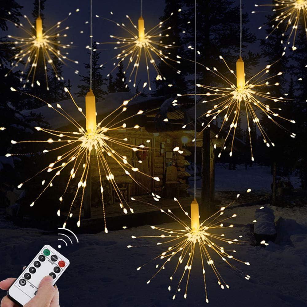Amazon Com Panda Santa Waterproof Firework String Lights Remote