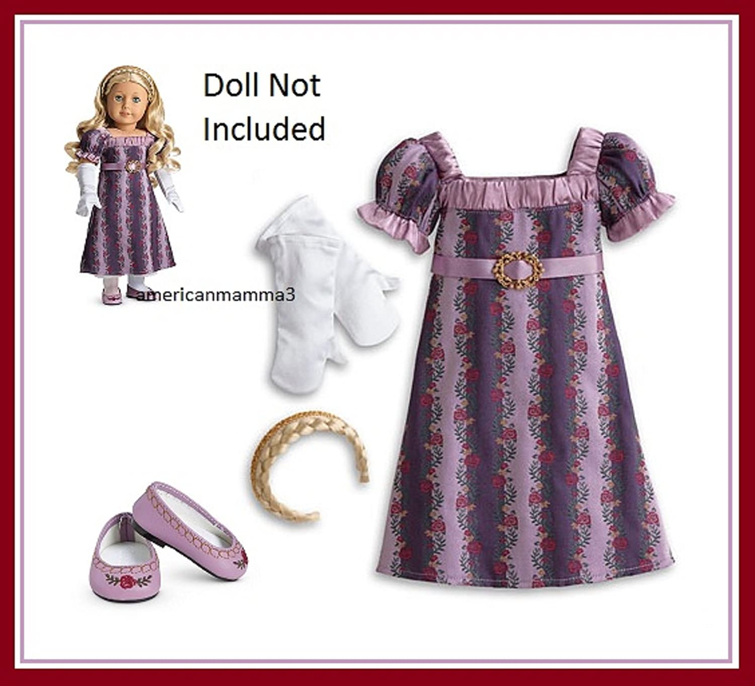 Amazon.com: American Girl Caroline - Caroline\'s Holiday Gown: Toys ...