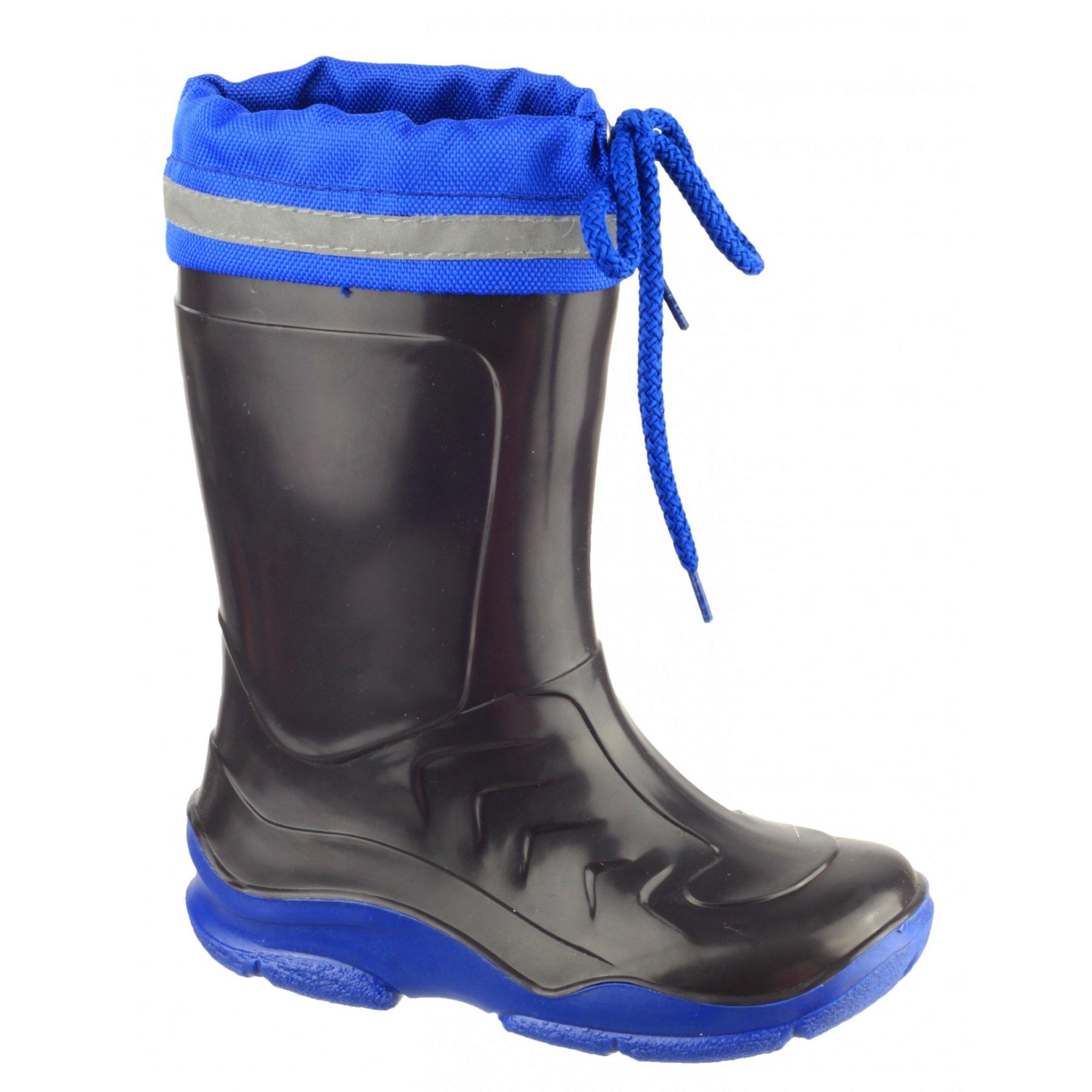 Mirak Splash Childrens Warmlined Boot/Boys Waterproof Boots (2.5-3 US Youth) (Blue)