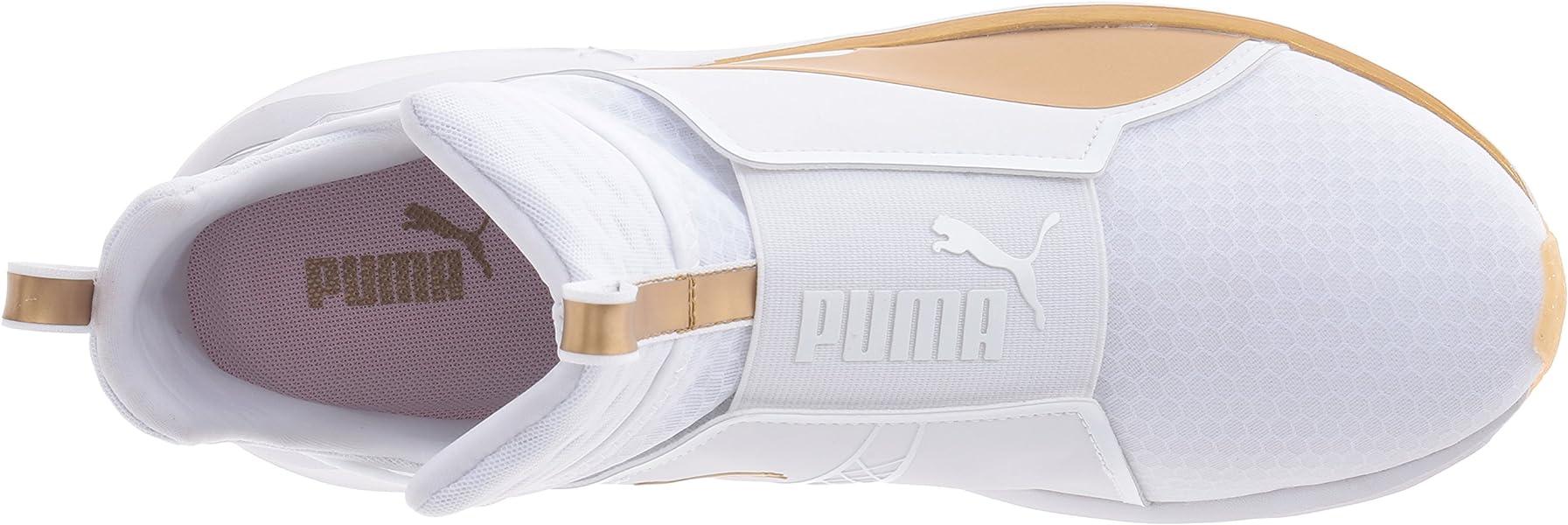 32338a844cdc PUMA Women s Fierce White Gold Cross-Trainer Shoe