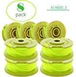 AC80RL3 String Trimmer Replacement Spool Line 080 Inch Twisted Line Compatible with Ryobi One Plus+ AC80RL3 18v, 24v, and 40v Cordless Trimmers ,Weed Eater String Auto-feed Spool Line 11ft(8-Pack)