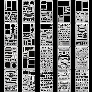 Plantillas de planificador plástico Qutaway Bullet Journal Set de ...