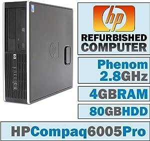 HP 6005 Pro SFF/Phenom II X4 B93 @ 2.80 GHz/4GB DDR3/80GB HDD/DVD-RW/Windows 10 Home 64 BIT