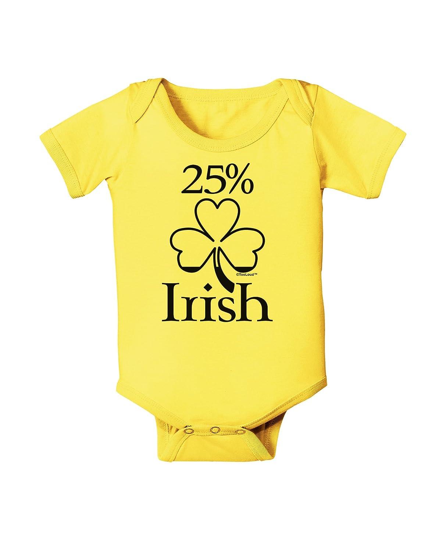 St Patricks Day Baby Romper Bodysuit TooLoud 25 Percent Irish
