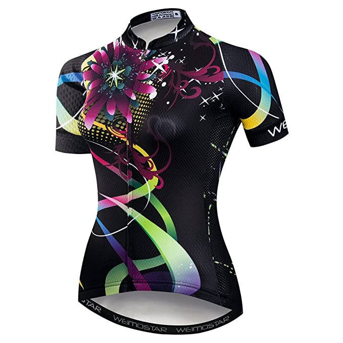 Weimostar Women's Cycling Bike Short Sleeve Cycling Jersey Shorts Set