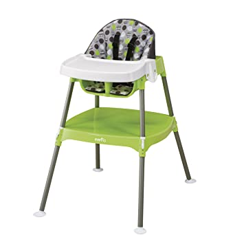 Super Evenflo 4 In 1 Eat Grow Convertible High Chair Dottie Lime Pabps2019 Chair Design Images Pabps2019Com
